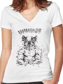RRRAAARRGH!!  Boston Were-ier Women's Fitted V-Neck T-Shirt