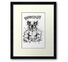RRRAAARRGH!!  Boston Were-ier Framed Print