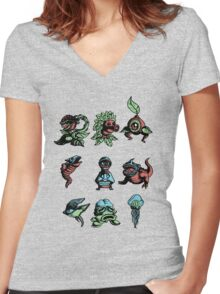 zelda enemies from oot Women's Fitted V-Neck T-Shirt