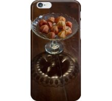 Antique Crystal Light Play - Japanese Lantern Husks in a Bowl iPhone Case/Skin