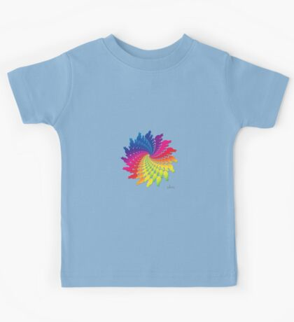 Colorful Cat Fractal 11117 Kids Tee