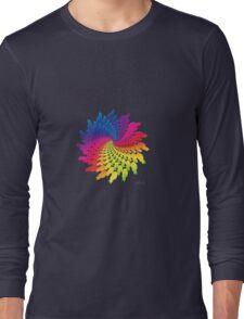 Colorful Cat Fractal 11117 Long Sleeve T-Shirt