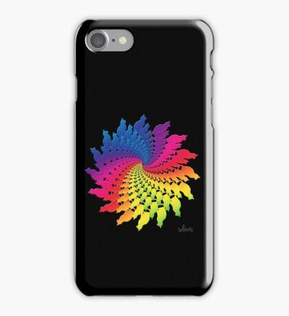 Colorful Cat Fractal 11117 iPhone Case/Skin