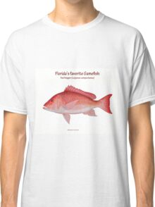 Florida Red Snapper with text Classic T-Shirt