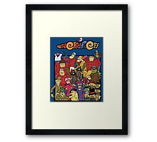 Wacky races - Everyone Framed Print