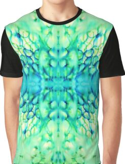bright abstract underwater tropical rings (blue + green) Graphic T-Shirt