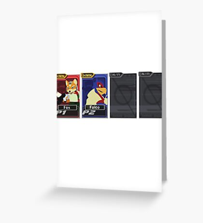 Melee Character Select Greeting Card