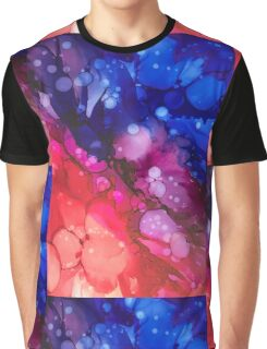Alcohol Ink - blue, magenta, red Graphic T-Shirt