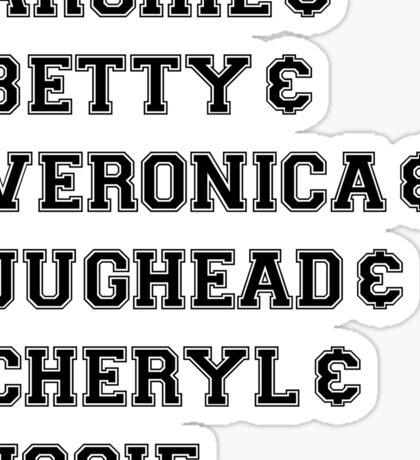 Riverdale - Archie & Betty & Veronica & Jughead & Cheryl & Josie Sticker