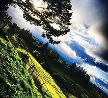 green hills, cool clouds by marcy413