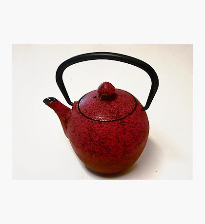 Little Red Tea Pot Photographic Print