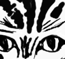 black cat, white cat Sticker