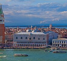 Italy. Venice. View from San Giorgio Maggiore Bell tower. by vadim19