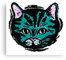 one very blue cat Canvas Print