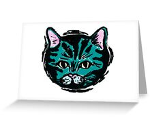 one very blue cat Greeting Card