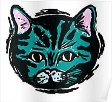 one very blue cat Poster
