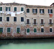 Back street - San Marco, Venice, Italy by John Kleywegt