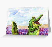 Crocodile in Watercolor Greeting Card
