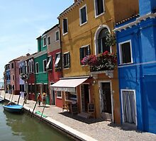 Burano Island - Venice, Italy by John Kleywegt