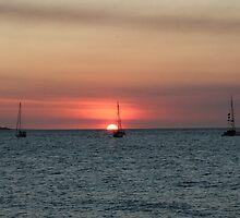 Darwin Sunset II - Boats by Camilla