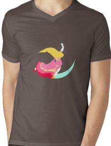 Peach Fair Mens V-Neck T-Shirt