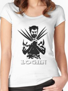 Old Logan (Wolverine) 2017 (white) Women's Fitted Scoop T-Shirt