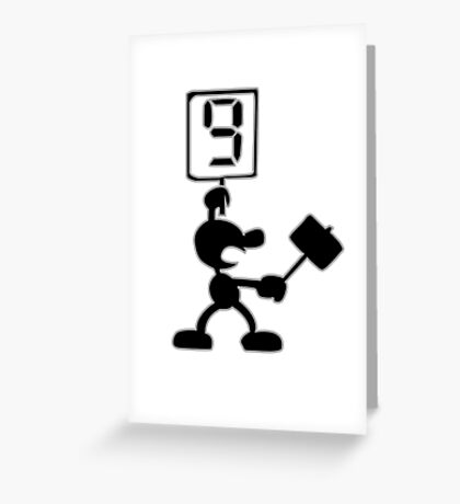 Game and Watch 9 Hammer Greeting Card