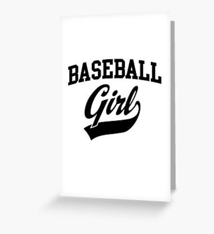 Baseball Girl Greeting Card