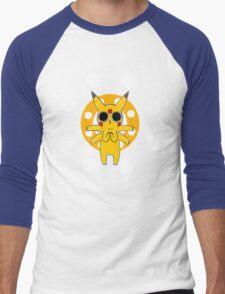Pikachu's Trip - one circle Men's Baseball ¾ T-Shirt