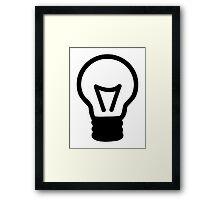 Bulb light icon Framed Print
