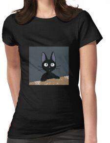Kiki's Delivery Service Pixel Art Jiji Womens Fitted T-Shirt