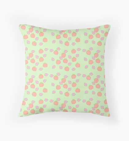 Peach blossom pattern Throw Pillow