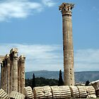 Temple of Olympia Zeus - Athens, Greece by John Kleywegt