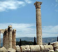 Temple of Olympia Zeus - Athens, Greece by John Kleywegt