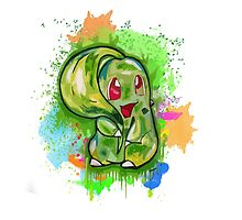 Cute Chikorita Spraypaint Tshirts + More! Jonny2may by Jonny2may