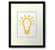 Bulb light Framed Print