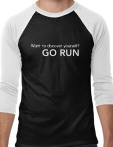 Want to discover yourself? Go run Men's Baseball ¾ T-Shirt