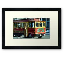 Vancouver Trolley Framed Print