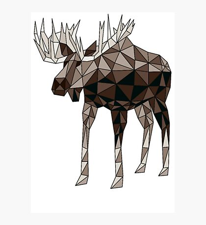 Geometric Moose- moose t shirt Photographic Print