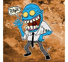 Frisky Blue Zombie Photographic Print