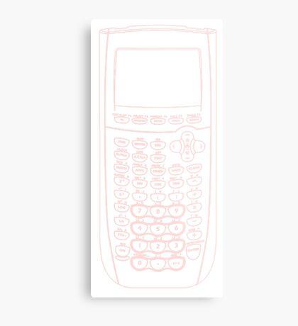 TI Calculator - Pink Metal Print