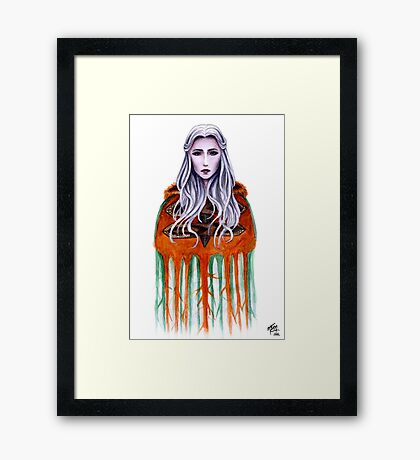 Revealed in the Thaw Framed Print