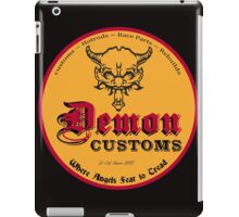Demon Customs Hot Rod iPad Case/Skin