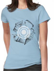 hand drawn pattern with different types of ice cream Womens Fitted T-Shirt