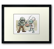 Zombies Share Pie Framed Print