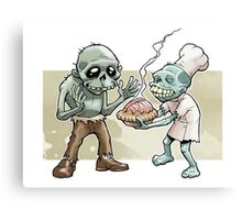 Zombies Share Pie Canvas Print