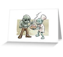 Zombies Share Pie Greeting Card