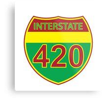 Interstate 420 Rasta Rastafarian Metal Print