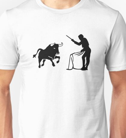 Bull fighting matador Unisex T-Shirt