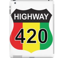 Highway 420 Rasta Rastafarian iPad Case/Skin